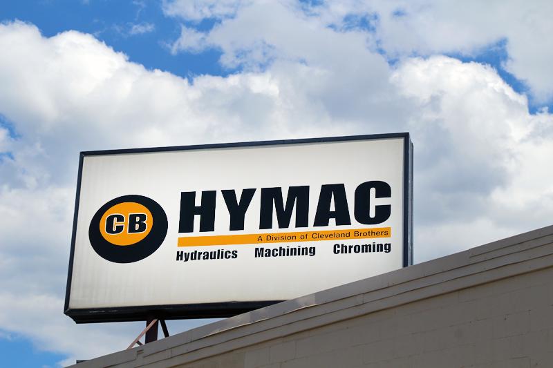 CB HYMAC Chambers Hill Sign